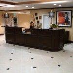 Receptionist desk at Hilton by I&E Cabinets