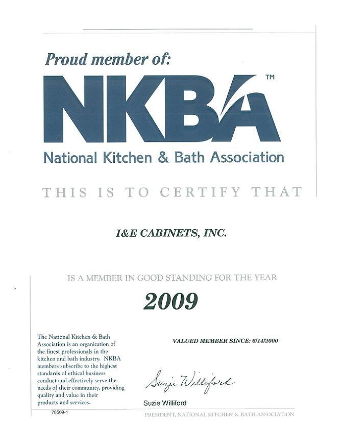 I E Cabinets Credentials