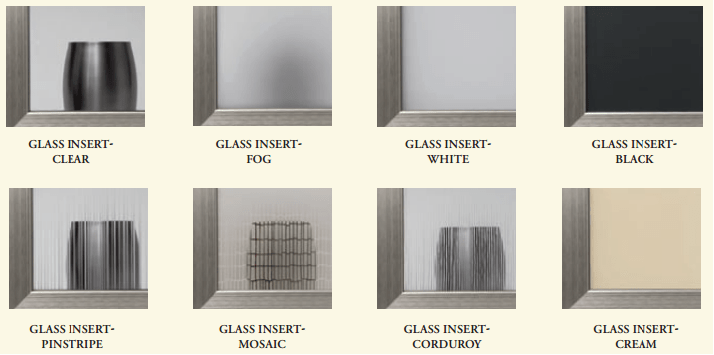 cabinet doors glass options