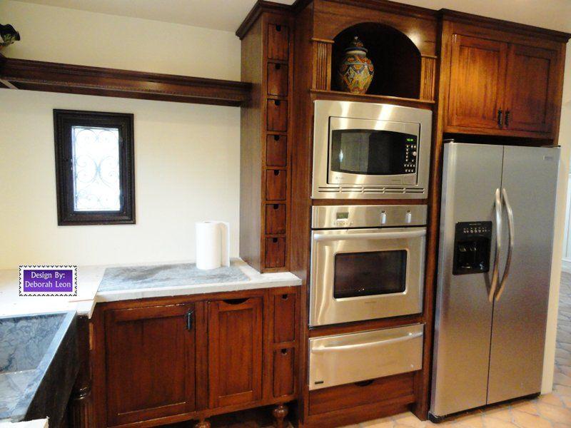 small kitchen design with unique cabinets