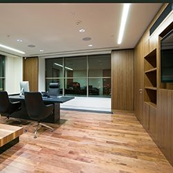 A Modern Livingroom Feel to Small Business Office design