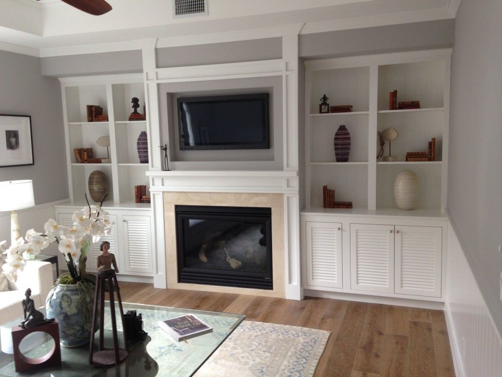 home entertainment center and cabinets