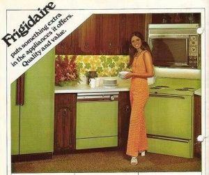 Retro 70s Avocado Green Appliances