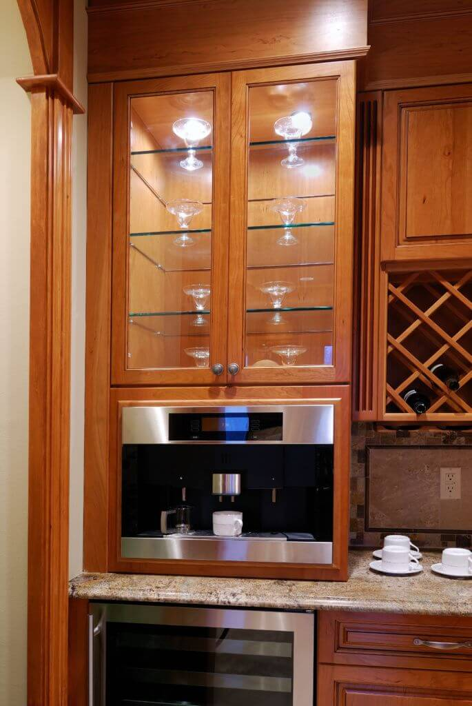 custom built in wine cabinet